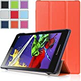 Bestdeal® High Quality Ultra Slim Lightweight SmartCover Stand Case for Lenovo TAB2 A8-50 8.0 inch Tablet PC + Stylus Pen (Orange)