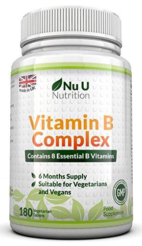 complesso di vitamina b 180 compresse (6 mese approvvigionamento) - 100% GARANZIA SODDISFATTI O RIMBORSATI - Contiene tutte le Eight Vitamine Del Gruppo B in 1 Compressa, vitamine B1, B2, B3, B5, B6, B12, D-biotina & Acido Folico