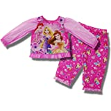 "Disney Princess ""Simply Lovely"" 2-piece Pink Pajama Set for toddler girls"