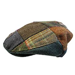 John Hanly & Co. Irish Made Tweed Flat Cap - Patchwork - Made in Ireland