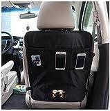 DoubleVillages Organizadore para coche Coche Asiento trasero Organizador Oraganizador de Coche Funda para asiento de coche Coche Asiento trasero Organizador Protector de asiento de coche / Protector de respaldo para coche con bolsa / Kick Mats -Mono