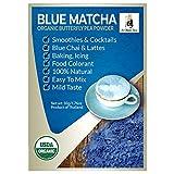 Organic Butterfly Pea Flower Powder from Thailand - Blue Matcha - Butterfly Pea Flower Extract - Blue Tea from Zi Chun Tea Company (Color: Blue, Tamaño: 50g)