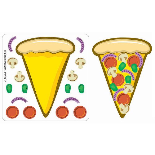 Make-Your-Own Pizza Stickers 75-pak - 1