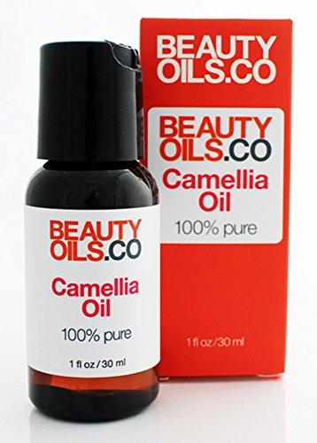 BEAUTYOILS.CO Camellia Oil - 100% Pure Cold-Pressed Face Beauty Oil Moisturizer (1 fl oz)