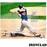 Joe Mauer Autographed 16x20 Full Color w/ 4 Insc.