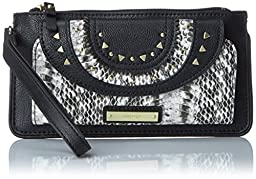 Nine West Bohemian Breeze Large Wristlet Wallet, Black/Multi, One Size