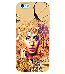 PRINTSWAG FLOWERS WITH GIRL Designer Back Cover Case for APPLE IPHONE 6