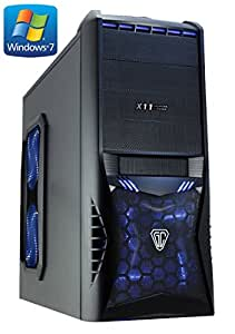 FX-4170 Gaming/Home PC with Windows 7 (AMD FX-4170 Four Core Bulldozer 4.30GHz CPU, WIFI, AMD Radeon R7 240 2GB DDR3 Graphics Card, 1TB Hard Drive, 8GB DDR3 Memory, HDMI 1080p, USB 3.0, Blue LED Case, pre-installed with Windows 7 64 Bit Home Premium)