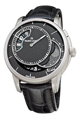 Maurice Lacroix Men's PT6218-TT031330 Pontos Decentrique Phases De Lune Black Moonphase Dial Watch