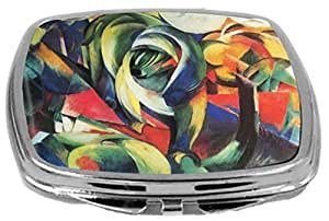 Rikki KnightTM Franz Marc Art The Mandrill Design Compact Mirror
