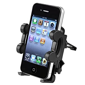 eForCity Black Car Air Vent Phone Holder Cradle compatible with the New Apple® iPhone® 5