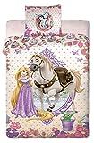 Princess Disney Rapunzel Single Duvet Set 140 x 200 cm Pillow 70 cm x 90 cm 100 % Cotton