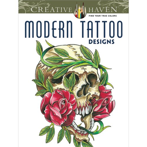 Dover Creative Haven Modern Tattoo Designs Coloring Book - 1