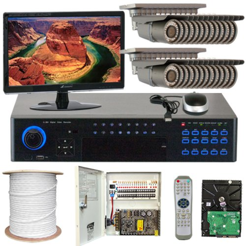 "Best Sale High End Professional 32 Channel H.264 960H Realtime Dvr Security Camera System With 24 X Professional 1/3"" Effio-E Camera, 700 Tv Lines, 2.8~12Mm Varifocal Lens, 42Pcs Ir Led, 115 Ft Ir Distance, Free Led Monitor. 960×480 & 30Fps Recording. D1M"