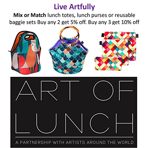 Neoprene Lunch Purse by ART OF LUNCH-Artist Monika Strigel (Germany) and Art of Liv'n have Partnered to Adopt an Orphaned Elephant and Giraffe through the David Sheldrake Wildlife Trust - Elephant