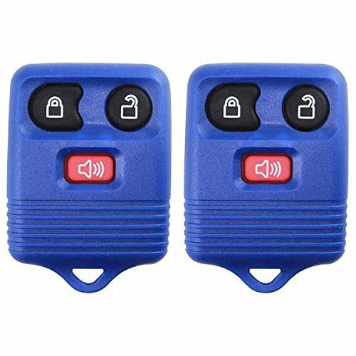 2 KeylessOption Blue Replacement 3 Button Keyless Entry Remote Control Key Fob Clicker (1998 Ford F 150 Accessories compare prices)