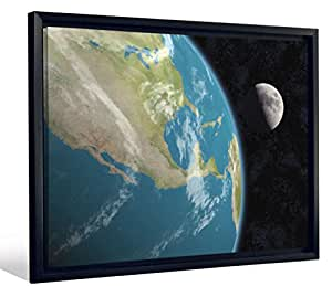 Jp london fcnv2095 earth half moon space view sci fi for Sci fi home decor