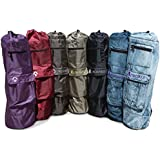 """Yoga Mat Bag, The Sak, by Aurorae, 28"""" Long and Extra Wide to Fit Most Mats, Great Colors, Adjustable shoulder strap, light weight and easy to carry, with Easy Acess Pockets"""