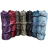 """Aurorae Yoga Mat Bag #1 Best Rated, """"The Mat Sak"""" 28"""" Long to Fit Most Mats, Extra Wide & Pockets to fit valuables and accessories, Great New Colors ~ Aurorae"""
