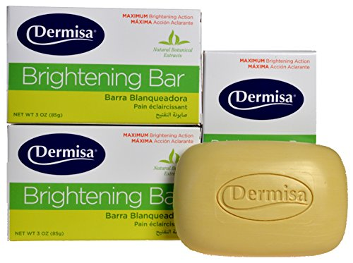 Dermisa Brightening Bar Soap, Natural Botanical Extracts, (3-Pack, each of 3 oz) (Dermisa Skin Fade Cream compare prices)