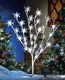 Solar Snowflake Christmas Tree Garden Stake
