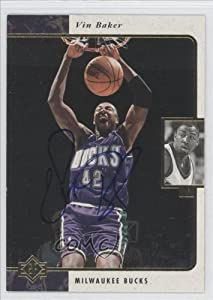 Vin Baker Milwaukee Bucks (Basketball Card) 1997-98 SP Authentic Autographed Buybacks... by SP Authentic