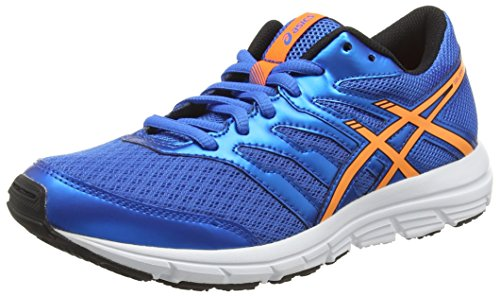 ASICS Gel-Zaraca 4 Gs, Scarpe Unisex Da Corsa, Colore Blu (Electric Blue/Hot Orange/Black 3930), Taglia 38 EU (4.5 UK)