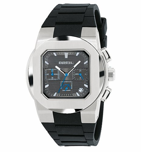 Breil TW0589 Mens Chronograph Watch with Rubber Strap