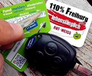 3x Fanartikel Freiburg greenkey FANCARD - Fankarten Motiv 'Freiburg' No. 1865 - Einzigartiger Kunstdruck mit sinnvoller Fundmeldefunktion auf der Rückseite, für den Genuss purer Wiedersehensfreude. Zeige Dein Engagement für Dein Land, Deine Stadt, Dein
