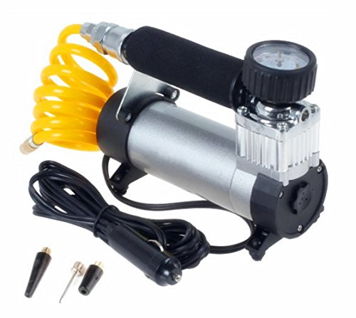 Big-Autoparts Professional Mini Portable Metal Cylinder Air Compressor Electric Tire Air Inflator Pump 12v 150 PSI 40l/min (12 V Air Blower compare prices)