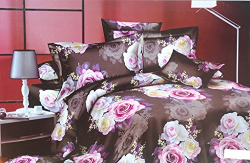 Valtellina Valtellina Splendid Flower 4D Print Double Bed Sheet