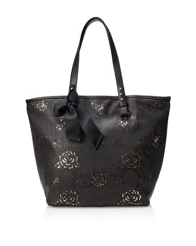 Betsey Johnson Women's Racey Lacey Tote, Black, One Size As You See