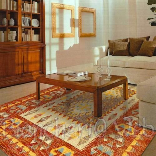 Biancheriaweb - Tappeto d arredo moderno in morbida ciniglia shade klim by suardi arancio orange; 175x240