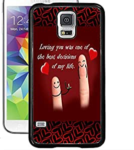 ColourCraft Love Quote Design Back Case Cover for SAMSUNG GALAXY S5 NEO