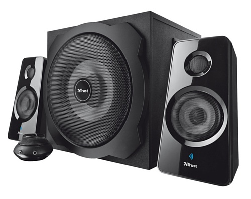 trust tytan 2 1 bluetooth lautsprechersystem inkl subwoofer 120 watt schwarz. Black Bedroom Furniture Sets. Home Design Ideas