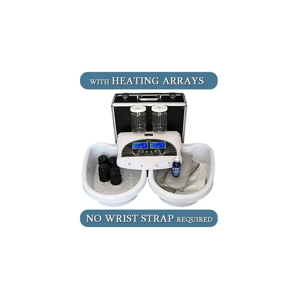 Dual Ionic Detox Foot Spa HEAT ARRAYS W/ALL ACCESSORIES