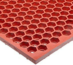NoTrax T15 Heavy Duty Nitrile Rubber Optimat Safety/Anti-Fatigue Mat, for Wet or Greasy Areas, 3\' Width x 2\' Length x 1/2\