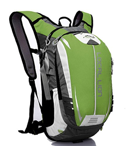 Zerd Hydration Pack Water Rucksack Backpack Bladder Bag Cycling Bicycle Bike 20L Green front-229589