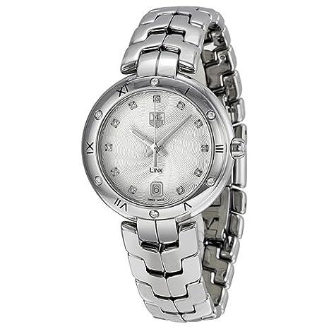 Tag Heuer Link Silver Guilloche Diamond Dial Steel Ladies Watch WAT1312BA0956-奢品汇 | 海淘手表 | 腕表资讯