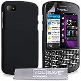 Blackberry Q10 Case Black Hard Hybrid Cover