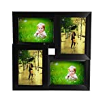 Wens 4 Picture Photo Frame 5 X 7 - 16 x 16 Inch, Black