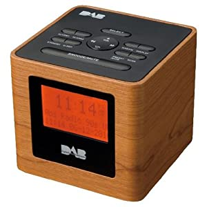 tesco cr1101w wood effect dab clock radio electronics. Black Bedroom Furniture Sets. Home Design Ideas