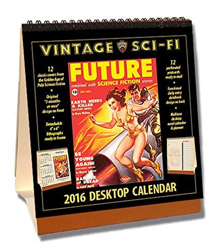 Sci-Fi 2016 Vintage Desktop Calendar (Vintage Scifi Calendar compare prices)
