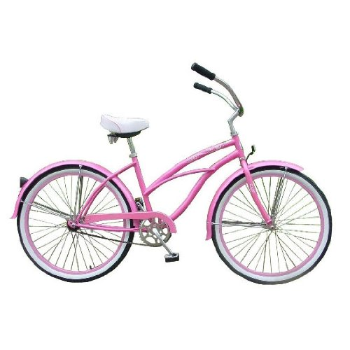Pink Tahiti Women's Beach Cruiser Bike with 26-inch Wheels