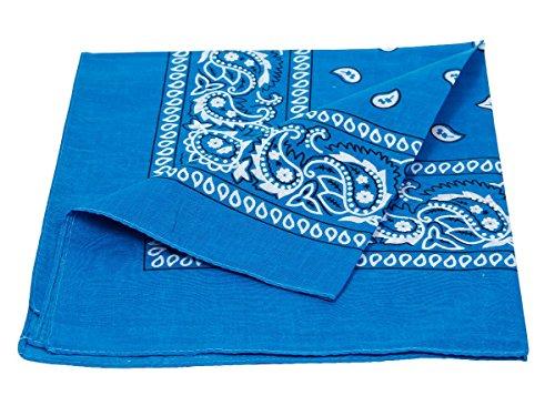 Bandana blu scuro paisley multifunzione classica BA-100 di colori diversi foulard scialle collo rocker biker motociclista motorcycle pirata accessorio hip hop cappellino cowboy bracciale