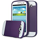 ULAK 4.8-Inch Hybrid Case with 2 Layer Cover PC and TPU Layers for Samsung Galaxy S3 - Purple