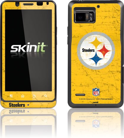 NFL - Pittsburgh Steelers - Pittsburgh Steelers - Alternate Distressed - Motorola Droid Bionic 4G - Skinit Skin at Steeler Mania
