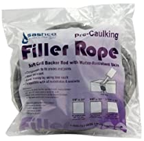 Sashco 30110 Pre-Caulking Filler Rope Backer Rod, 5/8-Inch x 20-Feet, Gray
