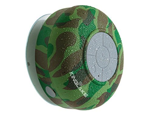 Kinglake® Brand New Waterproof Wireless Bluetooth Shower Speaker Handsfree Speakerphone Compatible With All Bluetooth Devices Iphone 5S And All Android Devices (Army Green)