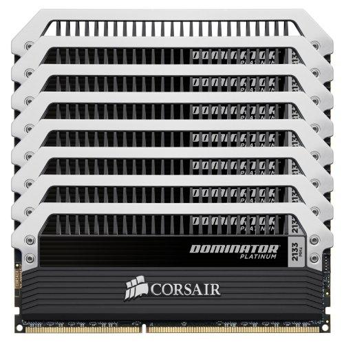 CORSAIR メモリ DOMINATOR PLATINUM 8GBx8枚 64GB CMD64GX3M8A2133C9